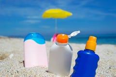 Бутылки лосьона Стоковые Фото