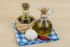 Бутылки оливкового масла Стоковое фото RF