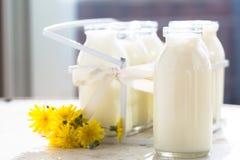 Бутылки парного молока Стоковые Изображения RF