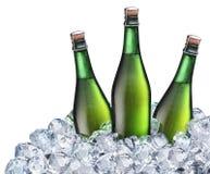 Бутылки пива в льде Стоковая Фотография