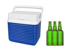 Бутылки пива и холодильника Стоковая Фотография