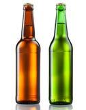 Бутылки пива на белизне Стоковые Фотографии RF