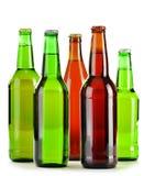 Бутылки пива на белизне Стоковая Фотография RF