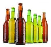 Бутылки пива на белизне Стоковая Фотография