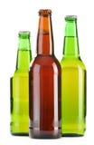 Бутылки пива на белизне Стоковое Изображение RF