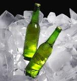 Бутылки пива на льде Стоковое Изображение RF