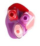 Бутылки политуры ногтей на белой предпосылке Стоковая Фотография RF