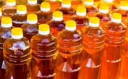 Бутылки подсолнечного масла Стоковая Фотография RF