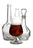 Бутылки рябиновки и вискиа Стоковые Изображения