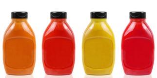 Бутылки соуса Стоковые Изображения RF