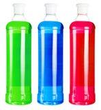 Бутылки с красочным жидкостным мылом Стоковые Фотографии RF