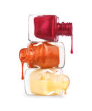 Бутылки с разленным маникюром Стоковая Фотография RF