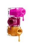 Бутылки с разленным маникюром Стоковое Изображение
