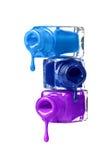 Бутылки с разленным маникюром Стоковая Фотография