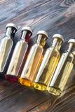 Бутылки с различными видами уксуса Стоковое фото RF
