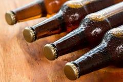 Бутылки с холодным пивом Стоковое Фото