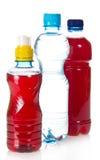 2 бутылки с juce и водой Стоковое Изображение