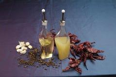 Бутылки уксуса и масла Стоковое Изображение RF