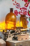 Бутылки, утюги угля и казны Стоковое Изображение RF