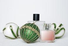 Бутылки дух и шариков рождества Стоковая Фотография