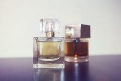 2 бутылки дух на таблице Стоковая Фотография