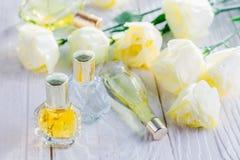 Бутылки дух с цветками eustoma Стоковое Изображение RF