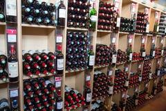 Бутылки французского вина Стоковые Изображения
