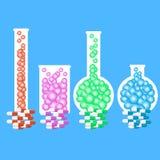 Бутылки химии иллюстрация штока