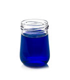 Бутылки цвета воды изолированные на белизне Стоковые Фотографии RF