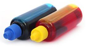 Бутылки чернил принтера Стоковая Фотография RF