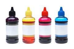 Бутылки чернил принтера Стоковое фото RF