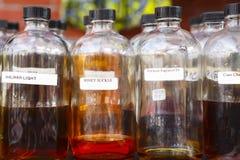 Бутылки эфирного масла Стоковые Изображения RF