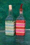 2 бутылки для уксуса и оливкового масла Стоковые Изображения