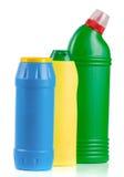 3 бутылки cleansers изолированных на белой предпосылке Стоковое Изображение