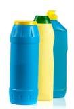 3 бутылки cleansers изолированных на белой предпосылке Стоковые Фото