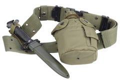 Буфет воды армии с поясом штифта и пистолета Стоковое Изображение RF