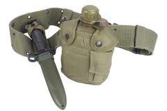 Буфет воды армии с поясом штифта и пистолета Стоковые Изображения RF