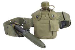 Буфет воды армии с поясом штифта и пистолета Стоковые Изображения