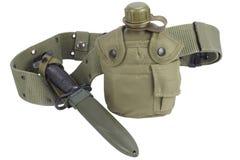 Буфет воды армии с поясом штифта и пистолета Стоковые Фотографии RF