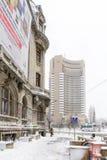 Бухарест, Румыния - 17-ое января: Квадрат университета 17-ого января Стоковое Изображение RF