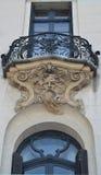 Бухарест, Румыния: характерная архитектура nouveau искусства стоковая фотография rf