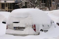 БУХАРЕСТ РУМЫНИЯ - 14-ое февраля: Аномалии погоды Стоковая Фотография