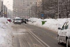 БУХАРЕСТ РУМЫНИЯ - 14-ое февраля: Аномалии погоды Стоковые Изображения