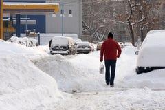 БУХАРЕСТ РУМЫНИЯ - 14-ое февраля: Аномалии погоды Стоковые Изображения RF