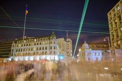 Бухарест - Calea Victoriei стоковые изображения rf