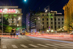 Бухарест - Calea Victoriei стоковая фотография