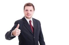 Бухгалтер или финансовое gestur менеджера показывая как и большого пальца руки-вверх Стоковые Фотографии RF
