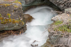 Бухта водопада в леднике Стоковые Изображения