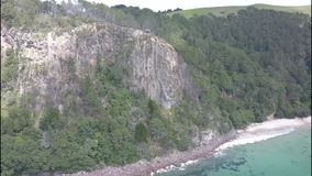 Бухта в полуострове Coromandel, Новая Зеландия собора сток-видео