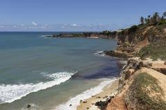 Бухта дельфинов - натальные пляжи Бразилии стоковая фотография rf